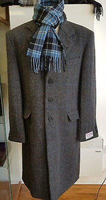 Harris Tweed Kelso Grey Black Crombie Style Coat Official Stockist £299 4 £199