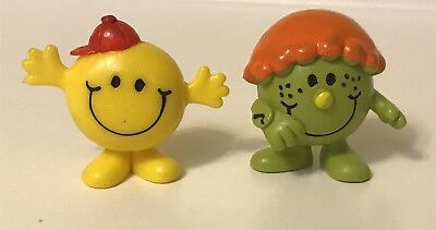 Vintage Hargreaves Little Miss Mister Mr Men PVC Figures Late & Bounce Arby's