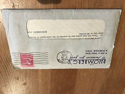 Rhomberg's Famous For Furs Dubuque, Iowa 1941 Customer Receipt And Booklet...