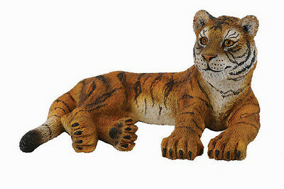 CollectA 88412 Tiger Cub Lying -  Wild Animal Model Toy Figurine - NIP