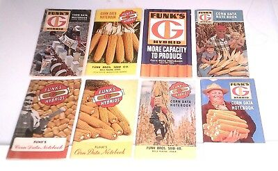 9 Vintage Funks Seed Corn Pocket Ledgers 40S 50S 60S Farm Collectible