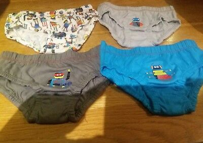 Baby Boys Pack Of 4 Briefs Age 18-24 Months Tu