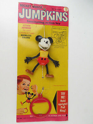 Vintage MICKEY MOUSE Jumpkins Toy New Old Stock NOS Doll Plastic Puppet