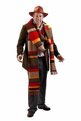 Doctor Who Adult & Teen Fourth Doctor Premium 17 Foot Knit Scarf By Elope