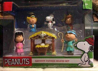 Peanuts Nativity Deluxe Figure Set Annual Christmas Pageant-Bnib-Free Shipping