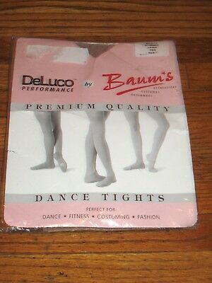 Woman's Baum's Footed Shiny Shimmer Tights Tan Size C New
