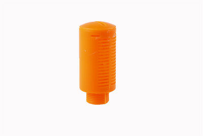 3/8BSP Thread Plastic Pneumatic Muffler Noise Exhaust Orange