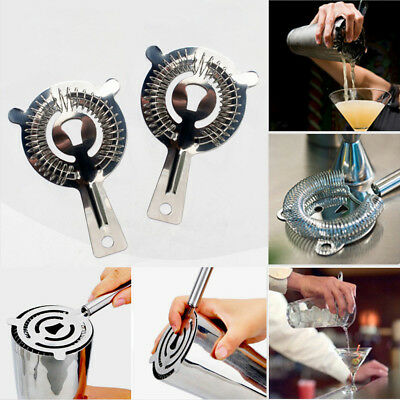 Stainless Steel Shaker Mixer Drink Bars Bartender Cocktail Ice Strainer Tools