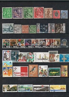 Selection Of Stamps From Malta Mixed Eras.