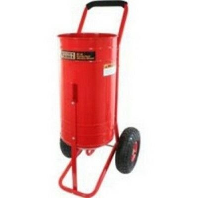 """Gravity Feed Sand Blaster, 90 lb, with 10"""" Wheels, 4 Ceramic Nozzles, 8' Hose,"""