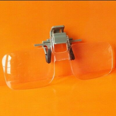 2X Aged Glasses Clip Type High Definition Acrylic Lens Magnifying Glass Loupe