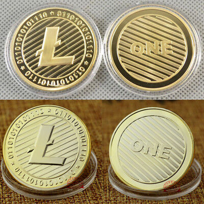 1PC LTC Gold Plated Litecoin Coin Collectible Gift Coin Art Collection Physical