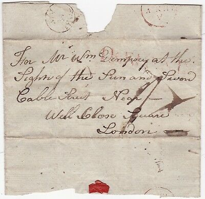* 1802? Jun V Instead Of Jun 5 Red H/S Ireland Wrapper >London At The Sun & Swan