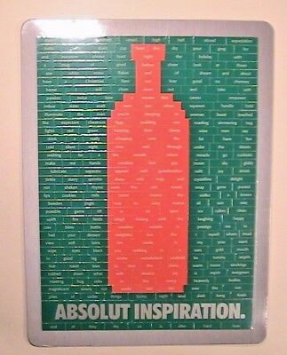 Absolut Vodka Ad 'inspiration' Sealed Magnet Word Art Puzzle