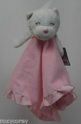 Carter's Pink White Kitty Cat Little Angel Lovely Security Blanket 14X14 in NWT