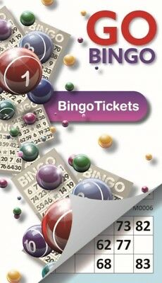 Pad Book 0F 450 Paper Bingo Game Tickets 75 Strips Of 6 Per Sheet Coded Booklet