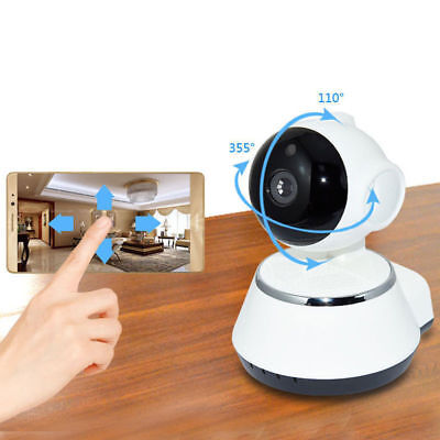 UGI Wireless WiFi 720P CCTV Home/Baby/Shop/Pet Security IP Camera Pan Tilt/ Card