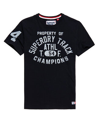 New Mens Superdry Trackster T-Shirt Truest Navy