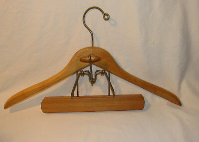 Vintage  Wood Suit Coat and Pants 2 pc Clothes Hanger