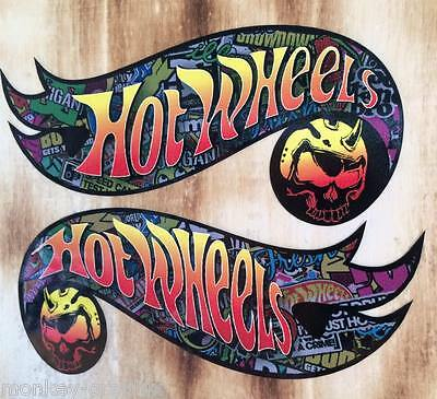 2x Comic Hotwheels Skull Oldschool Aufkleber Stickerbomb Tuning Sticker JDM OEM