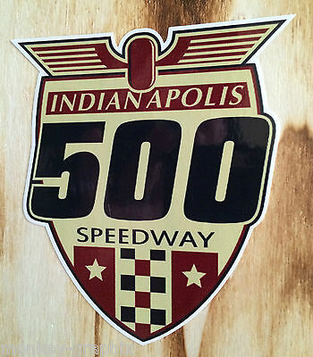 "Retro Aufkleber Sticker "" Indianapolis 500 "" US V8 Ratrod / Hot Rod - Oldschool"