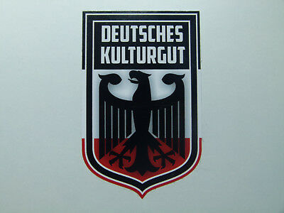 Deutsches Kulturgut Adler Oldschool Retro Sticker Oldtimer & Youngtimer Vintage