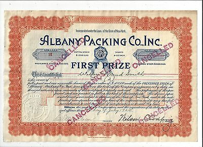 Stk-Albany Packing Co. 1924 Albany, NY See images #5 & 6 info