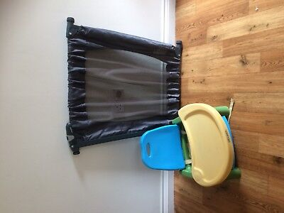 Lindam Travel stair gate and travel high chair