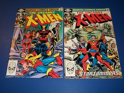 Uncanny X-men #155,156 Bronze Age Lot of 2 Brood Starjammers Wow VF-/VF+
