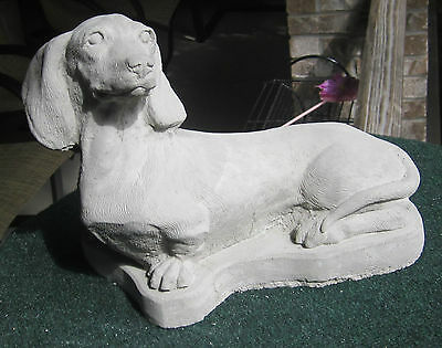 Concrete Large  Dachshund Statue Or Use As A Memorial,,,,pet Grave Marker