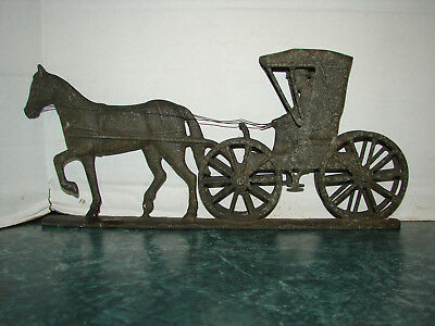 Vintage Horse And Buggy Mailbox Topper Plaque