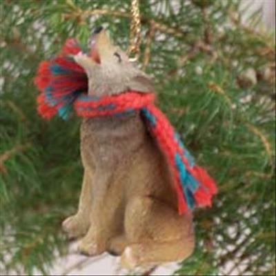 Coyote with Scarf Tiny One Miniature Small Christmas ORNAMENT