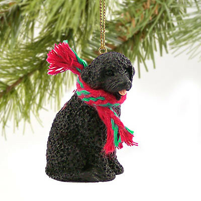 Portuguese Water Dog Tiny One Miniature Christmas Holiday ORNAMENT