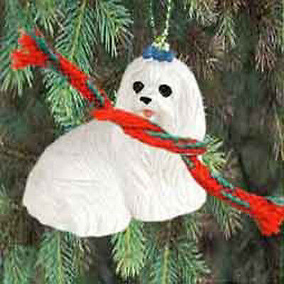 MALTESE Dog Tiny One Miniature Christmas Holiday ORNAMENT