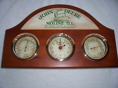 John Deere Clock, Humidity, & Thermometer Station - Rare And High Quality
