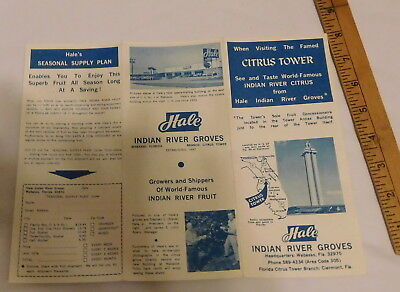 vintage Citrus Tower Hale Indian River Groves Clermont Florida brochure