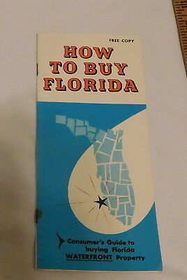 vintage How To Buy Florida Consumer's guide to Buying FL Waterfront booklet