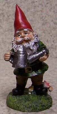 "Garden Accent Free Standing Gnome with a Watering Can NEW 4"" tall"