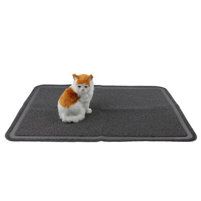 Extra Large Cat Litter Tray Mat Catcher Trapper Mat Easy Clean 35x24'' Grey
