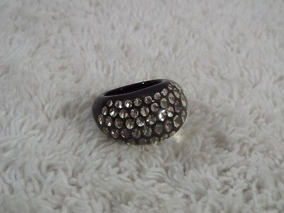 "DC ""Diaphani Collection"" Acrylic Encased Swarovski Crystal Ring ~ Size 7.5 (D70)"
