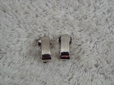 LIA SOPHIA Silvertone Bar Clip-on Earrings (D79)