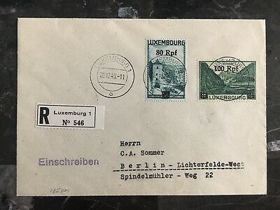 1940 Luxembourg Occupation Cover to Berlin Germany