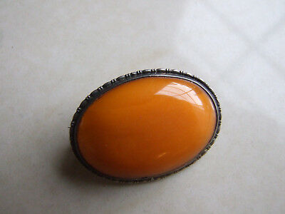 Antik Bernstein Brosche 5,7 Gramm Real Amber Brooch Baltic Natur Butterscotch