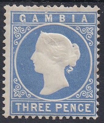 Gambia 1880 Qv Cameo 3D Wmk Crown Cc Upright