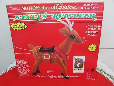 Vintage Christmas Telco Rudolph the Red Nosed Reindeer Motionette IOB