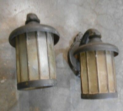 Pair Antique Cast Iron Exterior Sconce Lights (Z-1)