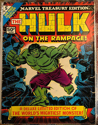 1975 Marvel Treasury Edition #5 The Hulk On The Rampage Excellent Condition