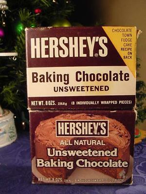 Lot of 2 OLD ORIGINAL HERSHEY'S COCOA CARDBOARD BOXES Chocolate Baking Display