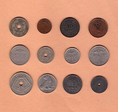 Belgium (1904-1942) - Coin Collection Lot # A - World/Foreign/Europe