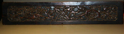 Wonderful Rare 16th Century Old Antique Chinese Carved Wooden Lucky Double Lions